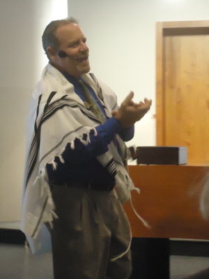 Cantor leading prayer